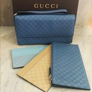 Gucci Guccissima Travel Continental Large Wallet